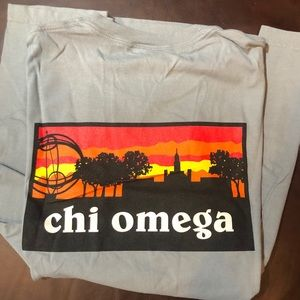 Chi Omega Comfort Colors Dad's Weekend T-Shirt